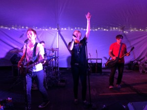 The Killer Flamingos Rockin the tent